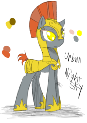 Size: 985x1385 | Tagged: artist:didun850, earth pony, helmet, hoof shoes, oc, oc only, oc:urban nightsky, pony, reference sheet, royal guard, safe, solo