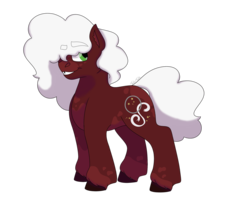 Size: 1280x1024 | Tagged: safe, artist:itstechtock, oc, oc:red velvet, earth pony, pony, female, magical gay spawn, mare, offspring, parent:cheese sandwich, parent:party favor, parents:cheesefavor, simple background, solo, transparent background