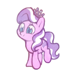 Size: 1280x1315 | Tagged: artist:dawnfire, colored, diamond tiara, earth pony, female, filly, flat colors, jewelry, pale color, pony, safe, simple background, soft color, solo, tiara, transparent background