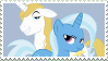 Size: 99x56 | Tagged: artist:pony-stamps, bluetrix, female, male, prince blueblood, safe, shipping, stamp, straight, trixie