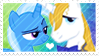Size: 99x56 | Tagged: artist:cascayd, bluetrix, female, male, prince blueblood, safe, shipping, stamp, straight, trixie