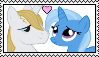 Size: 99x57 | Tagged: artist:shizukanamono, bluetrix, female, male, prince blueblood, safe, shipping, stamp, straight, trixie