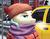 Size: 1876x1478 | Tagged: safe, artist:apocheck13, artist:lobkoff, coco pommel, pony, car, city, clothes, coat, digital art, female, mare, scarf, taxi