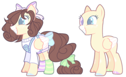 Size: 1024x625 | Tagged: artist:chococolte, bald, bow, clothes, female, hair bow, mare, oc, pegasus, safe, simple background, solo, tail bow, transparent background