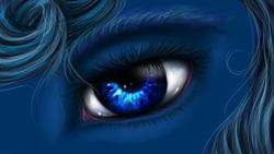 Size: 2732x1536   Tagged: safe, artist:sa-loony, princess luna, pony, close-up, eye, solo