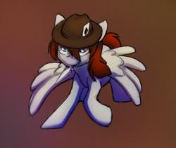 Size: 1218x1029   Tagged: safe, artist:dawnfire, oc, oc:hat trick, pegasus, pony, solo