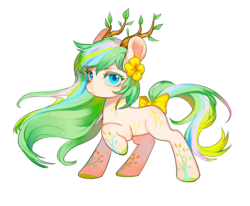 Size: 1700x1400 | Tagged: 2020 community collab, derpibooru community collaboration, earth pony, female, horns, looking at you, mare, oc, oc only, raised hoof, safe, simple background, solo, transparent background