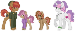 Size: 1024x422 | Tagged: artist:king-justin, button mash, family, female, male, offspring, parent:button mash, parents:sweetiemash, parent:sweetie belle, safe, shipping, straight, sweetie belle, sweetiemash