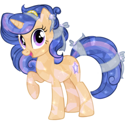 Size: 598x599 | Tagged: artist:galaxyswirlsyt, crystallized, crystal pony, female, mare, oc, oc:galaxy swirls, offspring, parent:flash sentry, parents:flashlight, parent:twilight sparkle, pony, safe, simple background, solo, transparent background, unicorn