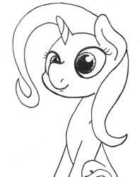 Size: 640x809   Tagged: safe, artist:ewoudcponies, trixie, pony, unicorn, female, sketch, solo, traditional art