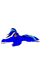 Size: 675x1200 | Tagged: safe, artist:echoarts, oc, oc only, oc:blueflame, pegasus, pony, faceplant, original art, original character do not steal, simple background, solo, transparent background