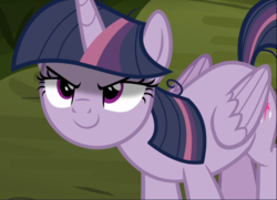 Size: 1300x939 | Tagged: alicorn, clone, cropped, evil grin, female, grin, kubrick stare, looking up, mean twilight sparkle, pony, safe, screencap, sinister, smiling, solo, the mean 6, you need me