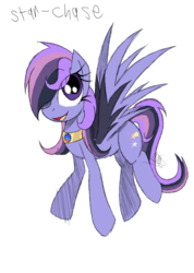 Size: 985x1385 | Tagged: artist:didun850, flying, hair over one eye, jewelry, necklace, oc, oc only, oc:star chaser, open mouth, pegasus, pony, safe, simple background, smiling, solo, transparent background