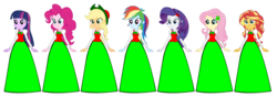 Size: 1024x362 | Tagged: applejack, artist:cartoonmasterv3, christmas, clothes, equestria girls, fluttershy, holiday, human, humane five, long skirt, pinkie pie, rainbow dash, rarity, safe, simple background, skirt, sunset shimmer, transparent background, twilight sparkle, twilight sparkle (alicorn), vector
