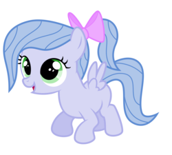 Size: 5000x4500 | Tagged: absurd resolution, artist:northernthestar, bow, female, filly, hair bow, oc, oc:adryna, parent:flitter, parents:canon x oc, pegasus, pony, safe, simple background, solo, transparent background