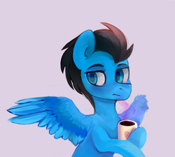 Size: 2000x1800   Tagged: safe, artist:raylich1750, oc, pegasus, pony, cup, solo