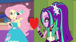 Size: 1100x618 | Tagged: aria blaze, ariashy, best in show: the victory lap, equestria girls, equestria girls series, female, flutterblaze, fluttershy, heart, lesbian, rainbow rocks, safe, shipping, shipping domino, spoiler:eqg series (season 2), wrong aspect ratio