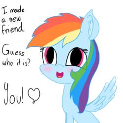 Size: 1000x1000 | Tagged: safe, artist:rainbow dash is best pony, rainbow dash, pegasus, pony, adorable face, blushing, cheek fluff, cute, daaaaaaaaaaaw, dashabetes, heart, open mouth, solo, spread wings, wings