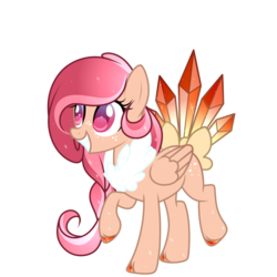 Size: 2000x2000 | Tagged: safe, artist:takan0, pegasus, pony, augmented tail, bow, female, mare, simple background, solo, tail bow, transparent background