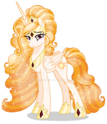 Size: 1280x1480 | Tagged: safe, artist:pokeponyeq, princess celestia, alicorn, pony, alternate design, base used, deviantart watermark, female, mare, obtrusive watermark, simple background, solo, transparent background, watermark, white outline