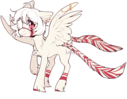 Size: 1051x820 | Tagged: safe, artist:kitten-in-the-jar, oc, oc:izumi shiro, pegasus, pony, eyepatch, female, mare, simple background, solo, transparent background