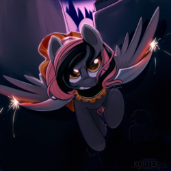 Size: 1000x1000   Tagged: safe, artist:si1vr, oc, oc only, pegasus, pony, angry, clothes, dress, solo