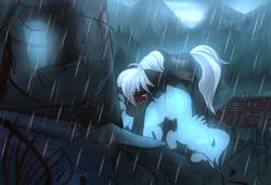 Size: 1519x1039   Tagged: safe, artist:si1vr, bat pony, pony, sad, solo, spirit, temple