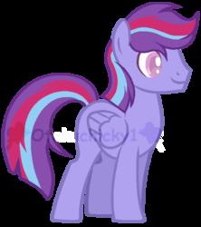 Size: 605x680   Tagged: safe, artist:otakuchicky1, oc, oc:cosmic trail, pegasus, pony, base used, magical lesbian spawn, male, offspring, parent:trixie, parent:twilight sparkle, parents:twixie, simple background, solo, stallion, transparent background