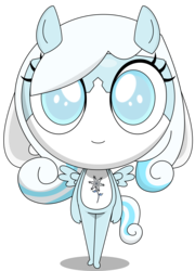 Size: 3000x4161 | Tagged: anthro, artist:keronianniroro, crossover, female, hybrid, keponian, keronian, keroro gunsou, oc, oc only, oc:snowdrop, pegasus, safe, sergeant frog, simple background, solo, species swap