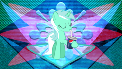 Size: 3840x2160 | Tagged: artist:laszlvfx, artist:neomiles, drink, drinking, edit, eyes closed, female, hoof hold, lyra heartstrings, mare, pepsi, pony, safe, soda, solo, unicorn, wallpaper, wallpaper edit