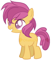 Size: 491x578 | Tagged: safe, artist:otakuchicky1, oc, oc:sundance, earth pony, pony, base used, female, filly, offspring, parent:apple bloom, parent:tender taps, parents:tenderbloom, simple background, solo, transparent background