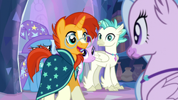 Size: 1920x1080 | Tagged: safe, screencap, silverstream, spoiler:s09e11, starlight glimmer, student counsel, sunburst, terramar, treehouse of harmony, trixie