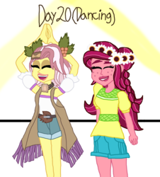 Size: 849x941 | Tagged: 30 day otp challenge, artist:ktd1993, dancing, equestria girls, female, gloriette, gloriosa daisy, lesbian, safe, shimmy, shipping, vignette valencia