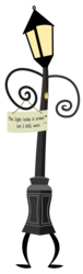 Size: 1247x4076 | Tagged: 2020 community collab, artist:thelonelampman, artist:the smiling pony, derpibooru community collaboration, lamp, oc, oc only, safe, sign, simple background, solo, svg, .svg available, the lone lampman, transparent background, vector