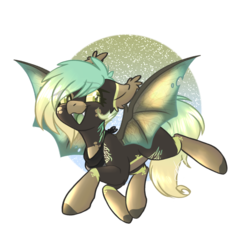 Size: 2000x2000 | Tagged: artist:red_moonwolf, bat pony, bat pony oc, colored sclera, female, flying, looking back, neckerchief, oc, oc:saturn's hexagon, safe, simple background, socks (coat marking), transparent background