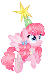 Size: 1024x1648 | Tagged: alternate hairstyle, artist:pokeponyeq, cute, diapinkes, pegasus, pegasus pinkie pie, pinkie pie, pony, race swap, safe, simple background, solo, transparent background