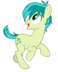 Size: 439x547 | Tagged: safe, artist:gooeybird, edit, editor:proto29, sandbar, earth pony, pony, explicit source, galloping, looking back, male, simple background, stallion, white background