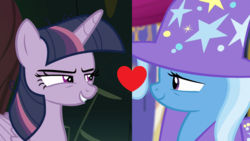 Size: 1280x720 | Tagged: edit, edited screencap, female, lesbian, mean twilight sparkle, mean twixie, no second prances, safe, screencap, shipping, shipping domino, the mean 6, trixie, twixie