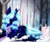 Size: 4008x3355 | Tagged: safe, artist:thewickedvix, princess luna, jackalope, pony, rabbit, alternate design, alternate hair color, alternate hairstyle, animal, cozy, cute, female, high res, lunabetes, mare, prone, snow, tree, unshorn fetlocks, winter