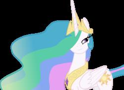 Size: 4410x3211 | Tagged: safe, artist:perinigricon, princess celestia, alicorn, pony, bedroom eyes, crown, female, jewelry, mare, regalia, simple background, solo, transparent background, vector