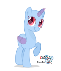 Size: 3626x4249 | Tagged: safe, artist:doraair, oc, oc only, alicorn, pony, alicorn oc, base, raised hoof, simple background, smiling, solo, transparent background