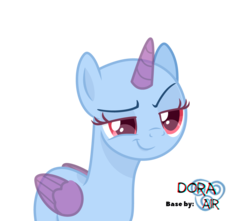 Size: 4000x3543 | Tagged: safe, artist:doraair, oc, oc only, alicorn, pony, alicorn oc, base, dreamworks face, grin, simple background, smiling, smug, solo, transparent background
