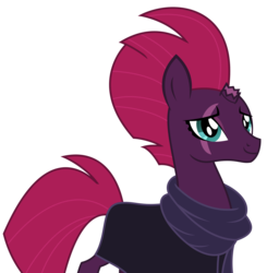 Size: 2454x2503 | Tagged: artist:sketchmcreations, broken horn, cloak, clothes, eye scar, female, horn, mare, safe, scar, scarf, simple background, spoiler:s09e24, spoiler:s09e25, tempest shadow, the ending of the end, transparent background, unicorn, vector