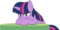 Size: 2658x1361 | Tagged: safe, artist:phucknuckl, twilight sparkle, alicorn, pony, the ending of the end, simple background, solo, table, transparent background, twilight sparkle (alicorn), vector