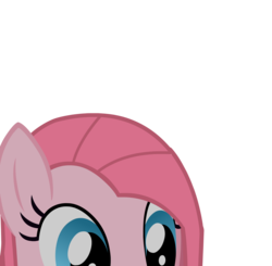 Size: 1678x1644 | Tagged: safe, artist:cm26, pinkie pie, earth pony, pony, cute, cuteamena, female, lurking, mare, pinkamena diane pie, puppet rig, simple background, solo, soon, transparent background, vector