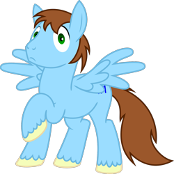 Size: 1603x1600 | Tagged: safe, artist:jp, derpibooru exclusive, oc, oc only, pegasus, pony, 2020 community collab, derpibooru community collaboration, .svg available, looking at you, male, simple background, solo, spread wings, stallion, svg, transparent background, vector, wings