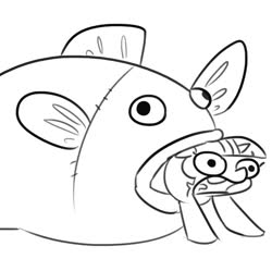 Size: 717x715 | Tagged: safe, artist:tjpones, twilight sparkle, fish, pony, unicorn, female, mare, meme, monochrome, not salmon, ponified animal photo, ponified meme, salmon yet not salmon, solo, vore, wat