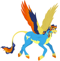 Size: 1157x1176 | Tagged: safe, artist:bijutsuyoukai, oc, pegasus, pony, colored wings, female, magical lesbian spawn, mare, multicolored wings, offspring, parent:spitfire, parent:twilight sparkle, parents:twifire, simple background, solo, transparent background