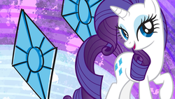 Size: 2560x1440 | Tagged: safe, rarity, official, official art, rarity month, wallpaper