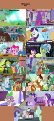 Size: 1760x3958 | Tagged: safe, artist:nightshadowmlp, edit, edited screencap, screencap, applejack, autumn blaze, berry blend, berry bliss, chancellor neighsay, citrine spark, cozy glow, discord, fire quacker, fluttershy, gallus, huckleberry, lightning dust, november rain, ocellus, peppermint goldylinks, pinkie pie, rain shine, rainbow dash, rarity, rockhoof, sandbar, scootaloo, silverstream, sludge (dragon), smolder, spike, starlight glimmer, trixie, twilight sparkle, yona, alicorn, changedling, changeling, dragon, earth pony, griffon, hippogriff, kirin, pegasus, pony, unicorn, yak, a matter of principals, a rockhoof and a hard place, father knows beast, friendship university, road to friendship, school raze, season 8, sounds of silence, the end in friend, the hearth's warming club, the washouts (episode), what lies beneath, yakity-sax, spoiler:s08, angry, background pony, book, clothes, dragoness, female, filly, friendship student, hearth's warming tree, male, mane seven, mane six, mare, mlp season compilation, nervous, season 8 compilation, slime, stallion, student six, tree, twilight sparkle (alicorn), uniform, wall of tags, washouts uniform, winged spike, yovidaphone